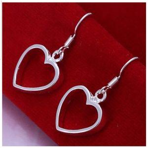 Jewelry - Silver Plated Heart Earrings
